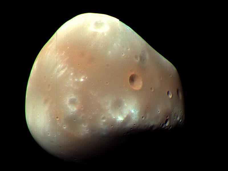 La luna marciana Deimos desde la MRO