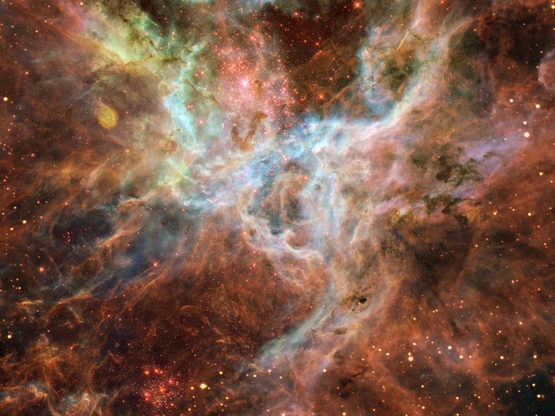 En el corazón de la nebulosa de la Tarántula