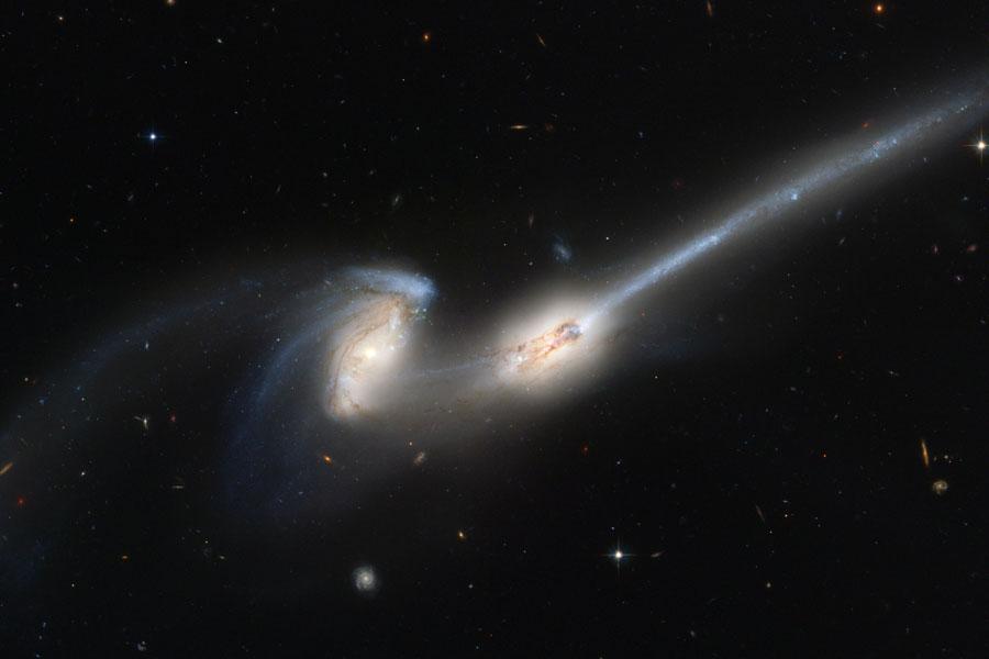 Observatorio NGC 4676: Cuando los ratones colisionan