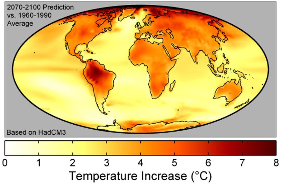 Predicciones sobre el calentamiento global