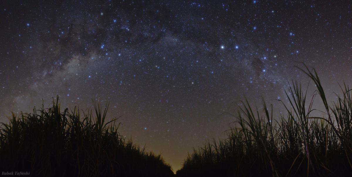 Maravilhoso céu no Brasil e as constelações correspondentes-Foto da NASA
