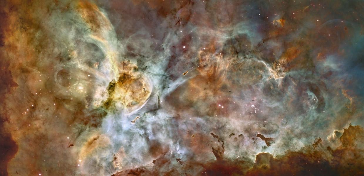 Panorámica de la Nebulosa Carina desde el Hubble