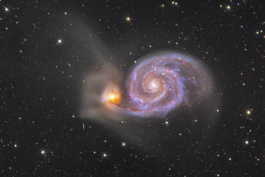 Campo profundo de la Galaxia del Remolino