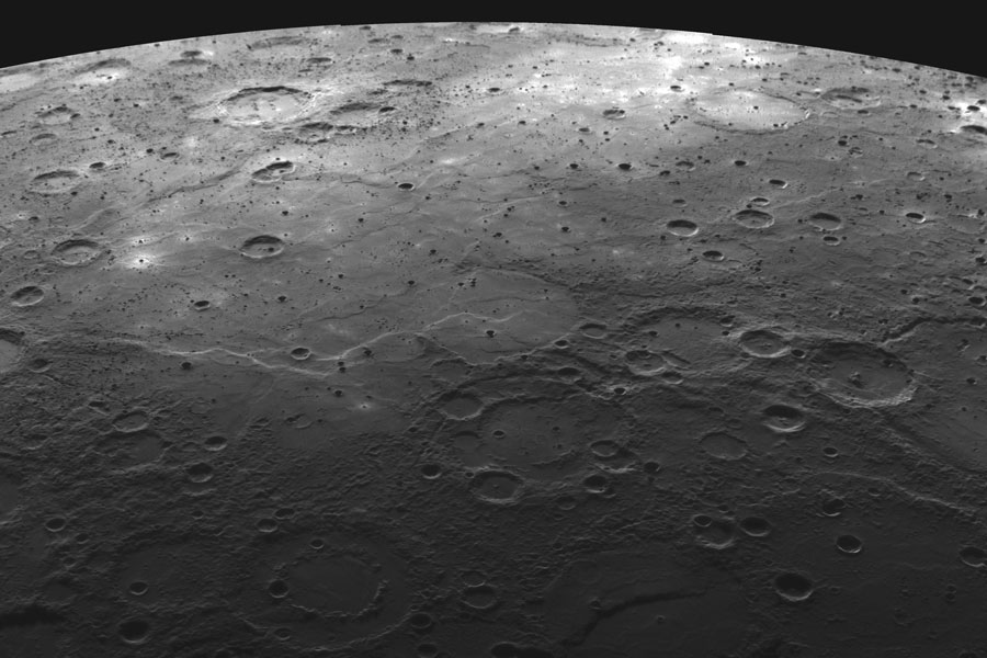 Terreno volcánico en Mercurio