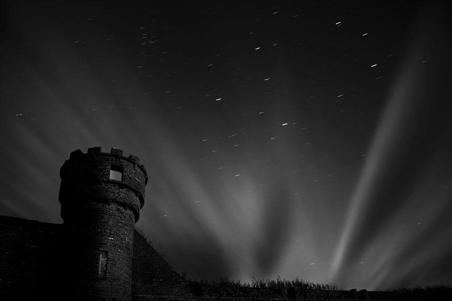 Rayos de Luna sobre el Castillo Thurso