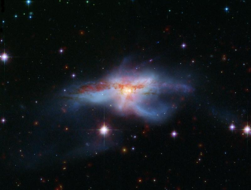 NGC 6240: Galaxias fusionándose