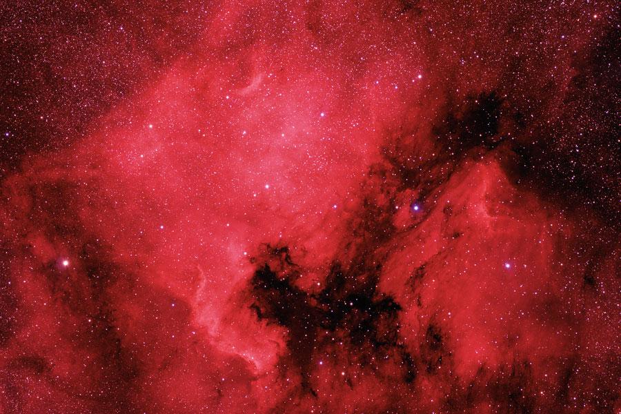 Las nebulosas Norteamérica y del Pelícano