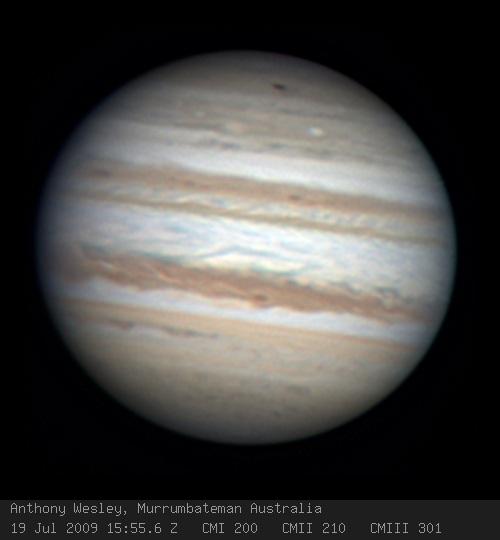 Nueva cicatriz de impacto en Júpiter