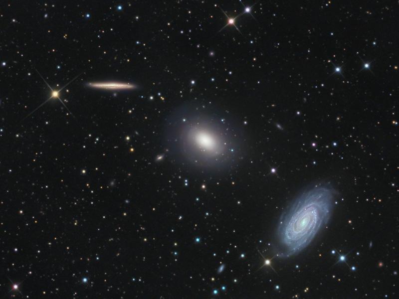 Tres galaxias en Draco