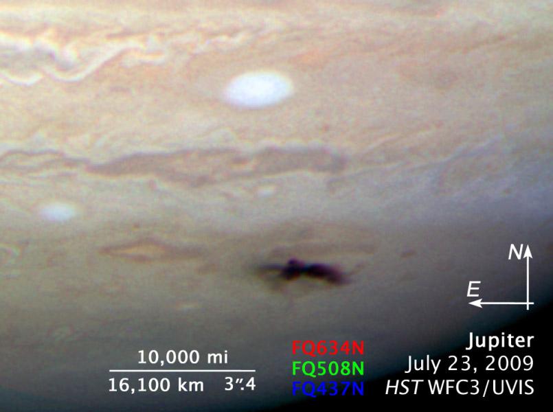 Imagen del Hubble: impacto de Júpiter
