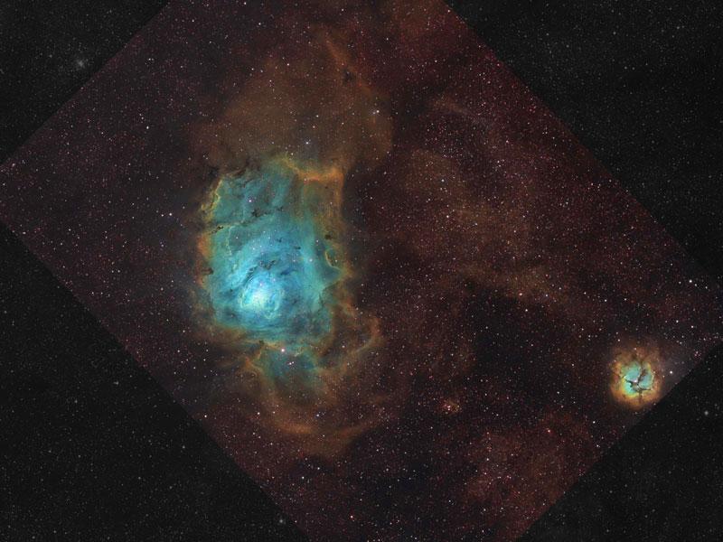 La Nebulosa de la Laguna con gas, polvo y estrellas