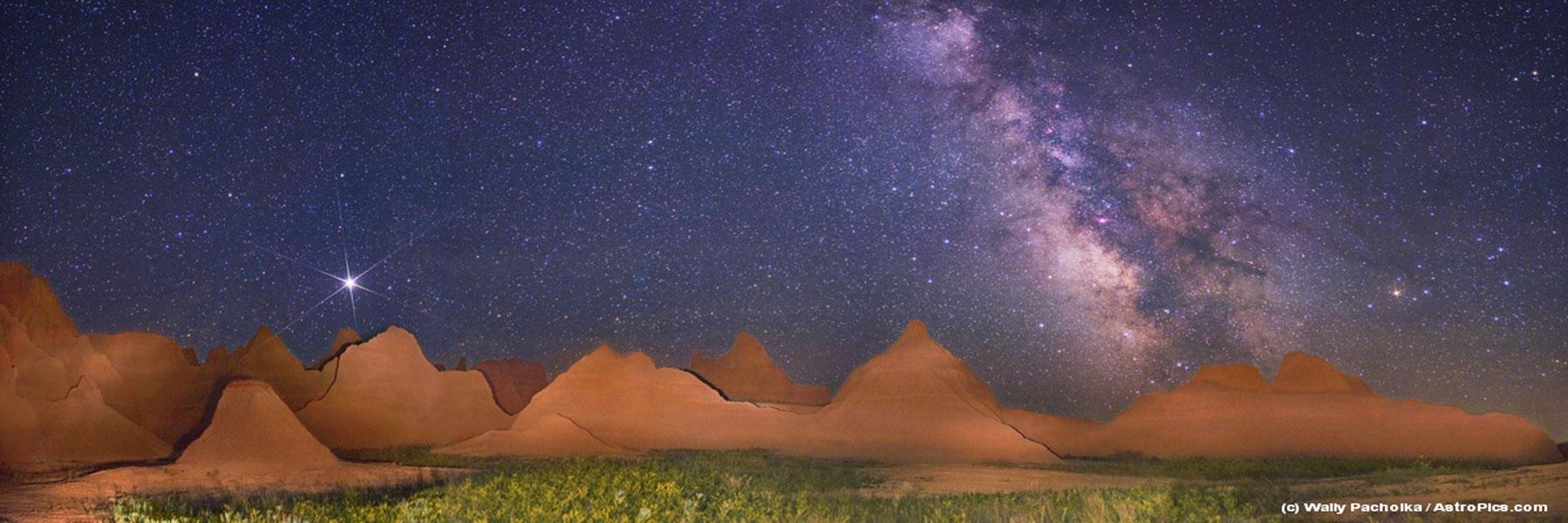 图片说明:银河系全景图,版权:AstroPics.com, TWAN
