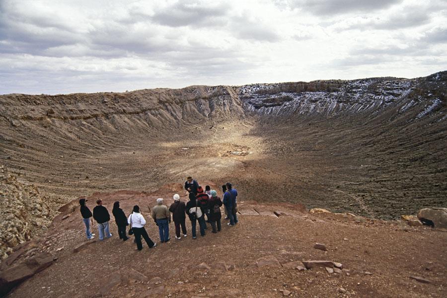 Dentro del Cráter del Meteorito Barringer