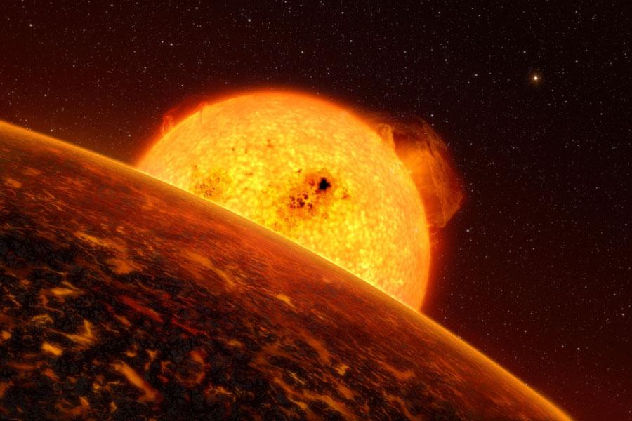 El satélite CoRoT descubre un planeta rocoso