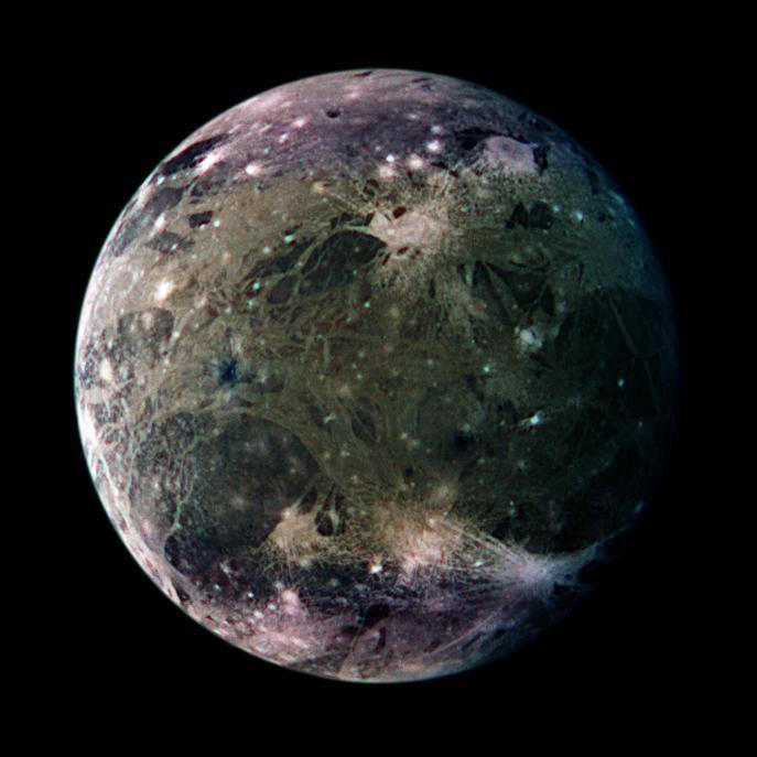 图片说明:木卫三,版权:Galileo Project, DLR, JPL, NASA