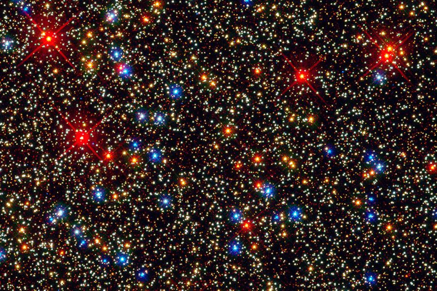 El centro del Cúmulo Globular Omega Centauri