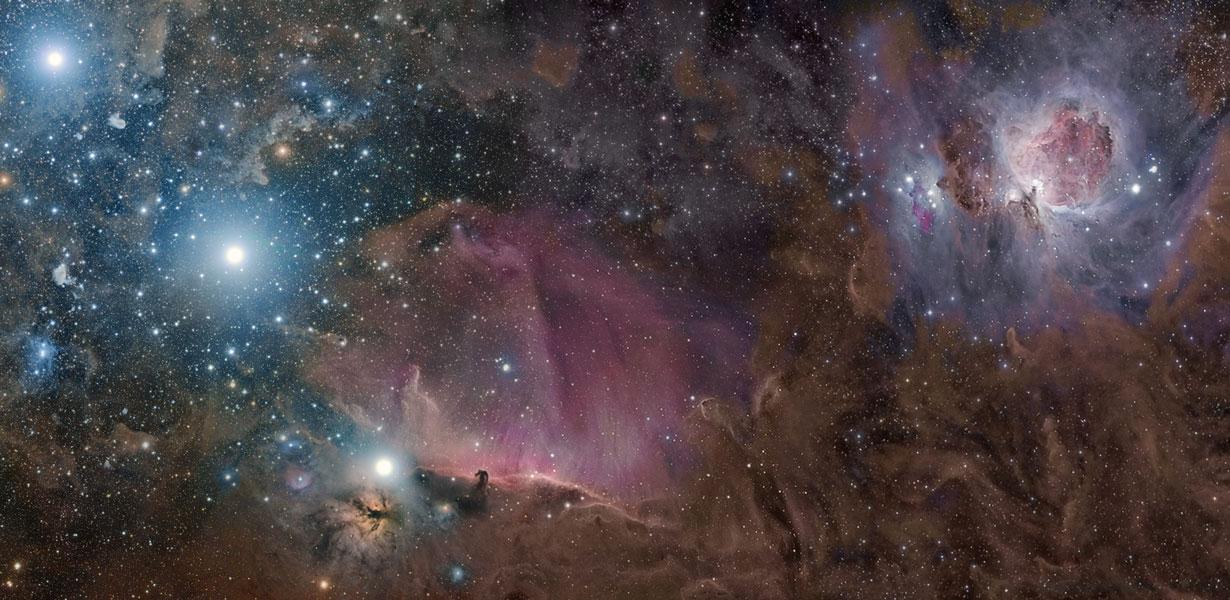 Orión en gas, polvo y estrellas