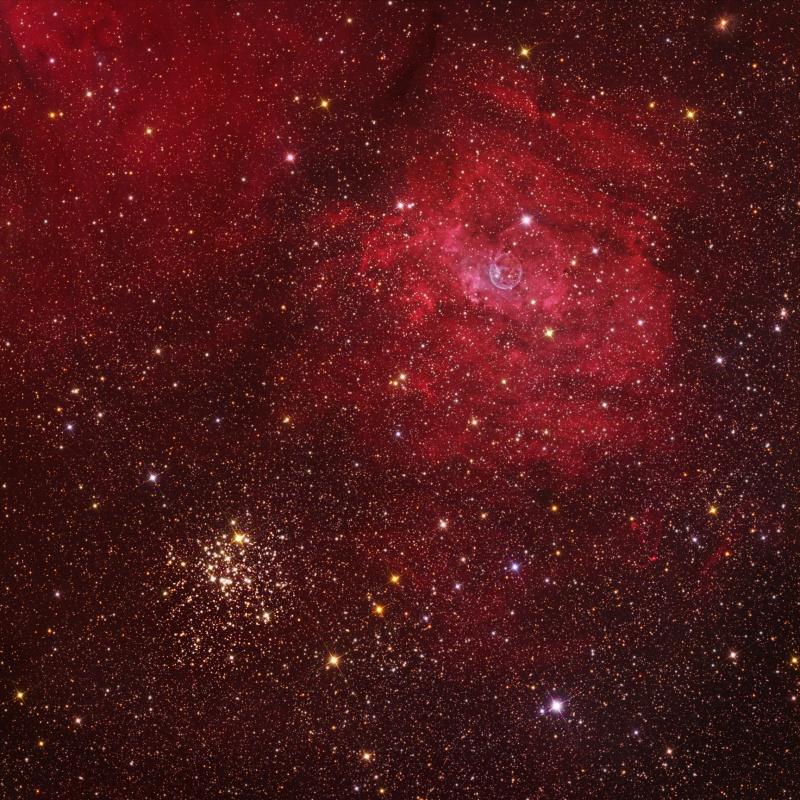 カシオペヤ座の散開星団M52