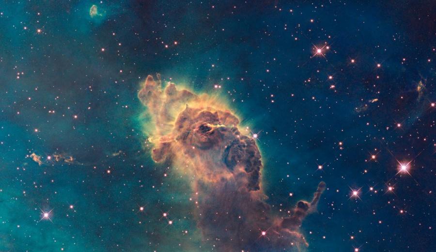 图片说明:船底座星云,版权:NASA, ESA, and the Hubble SM4 ERO Team