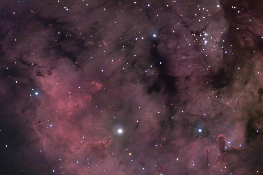 Los Pilares de estrellas de Sharpless 171