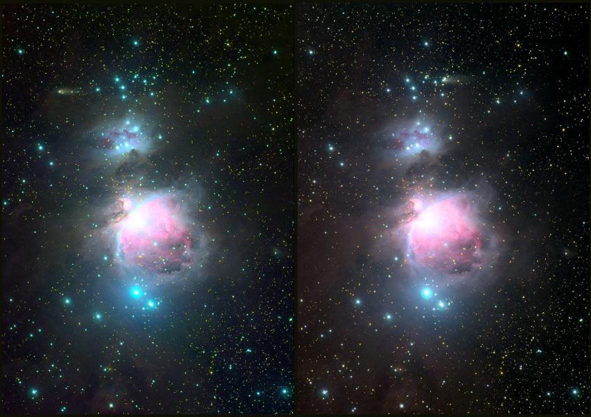 图片说明:猎户座与彗星,版权: Rolando Ligustri