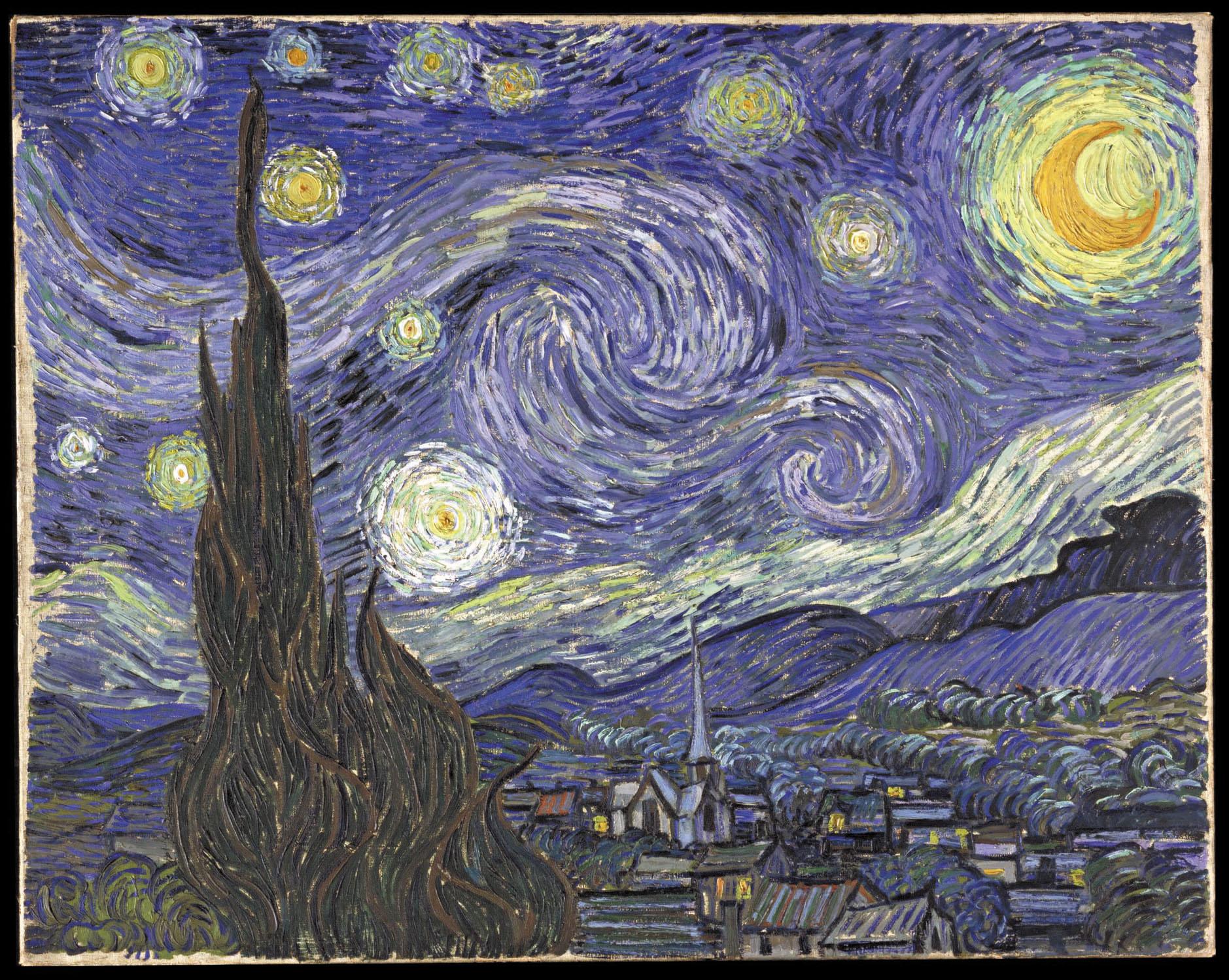 APOD 11 Oktober 2009 De Sterrennacht Van Vincent Gogh