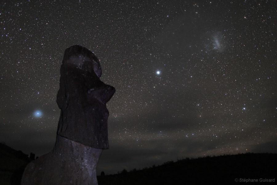 Estrellas sobre la Isla de Pascua