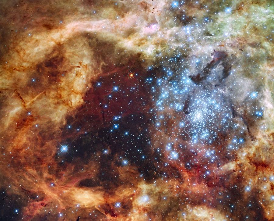 Cúmulo estelar R136 estalla