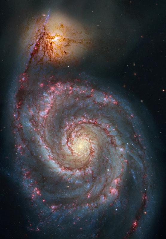 Reprocesado de M51 del Hubble