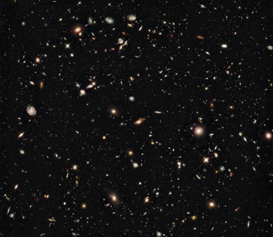 HUDF infrarrojo: el amanecer de las galaxias