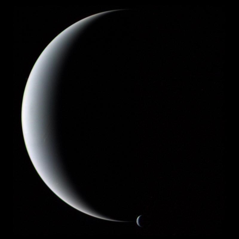 all Neptune and Triton ( apod.nasa.gov )