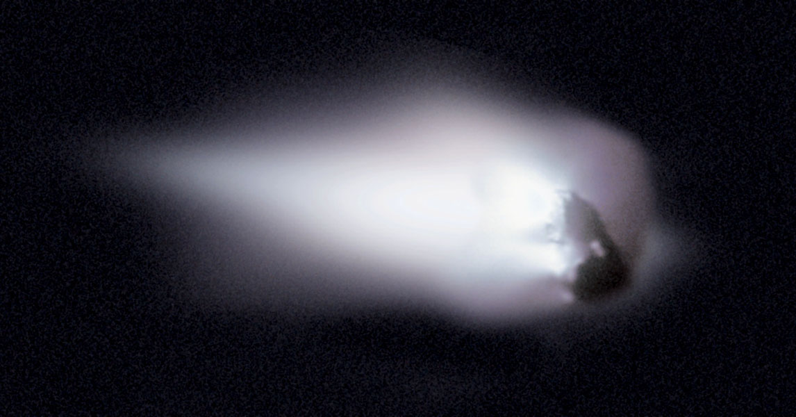 El Núcleo del Cometa Halley: un Iceberg en órbita