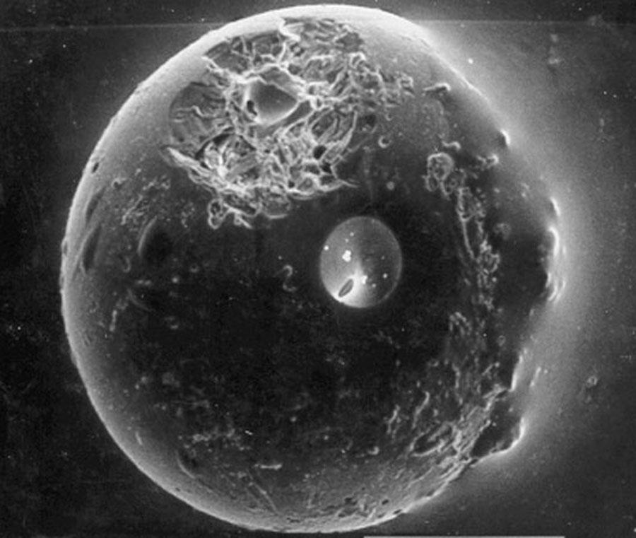 Una esférula de la Luna terrestre