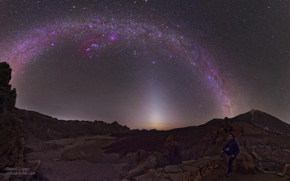 Luz zodiacal vs. Vía Láctea