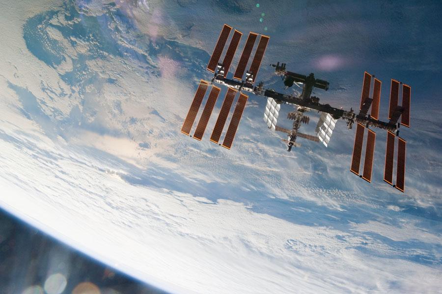 La Estación Espacial Internacional desde arriba