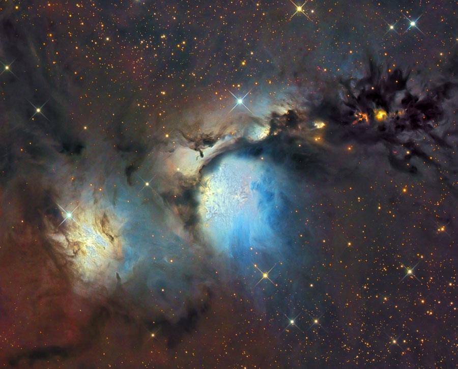 M78 y nubes de polvo reflectantes en Orión