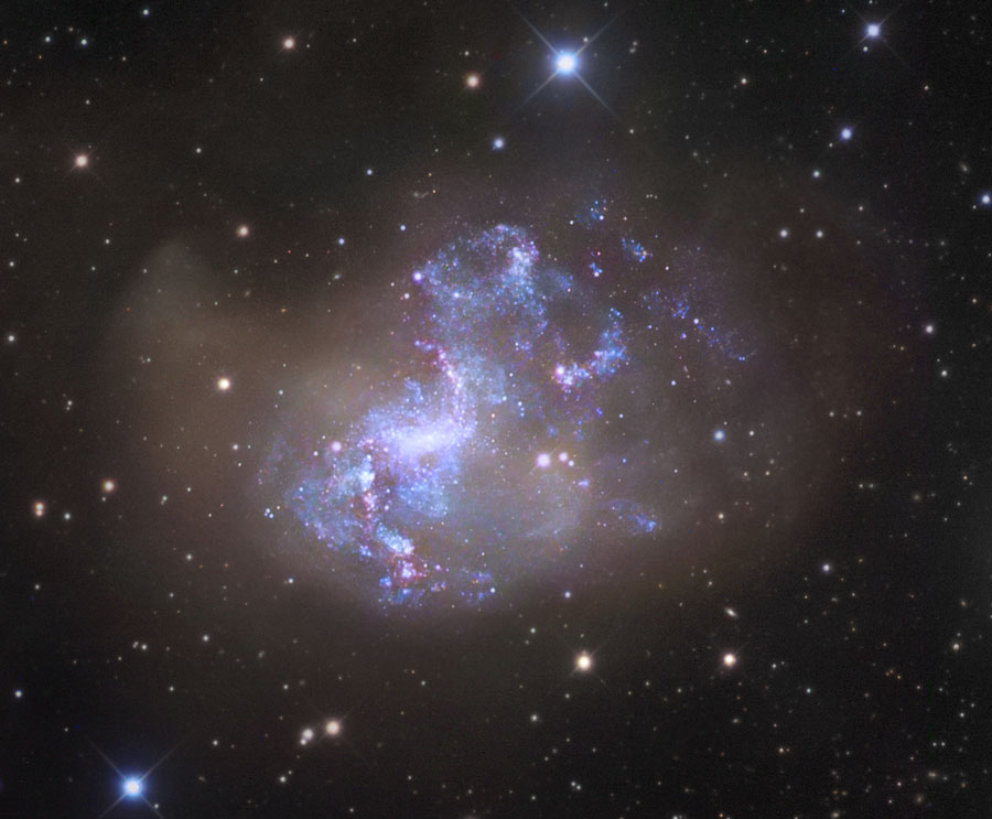 Inusual galaxia starburst NGC 1313