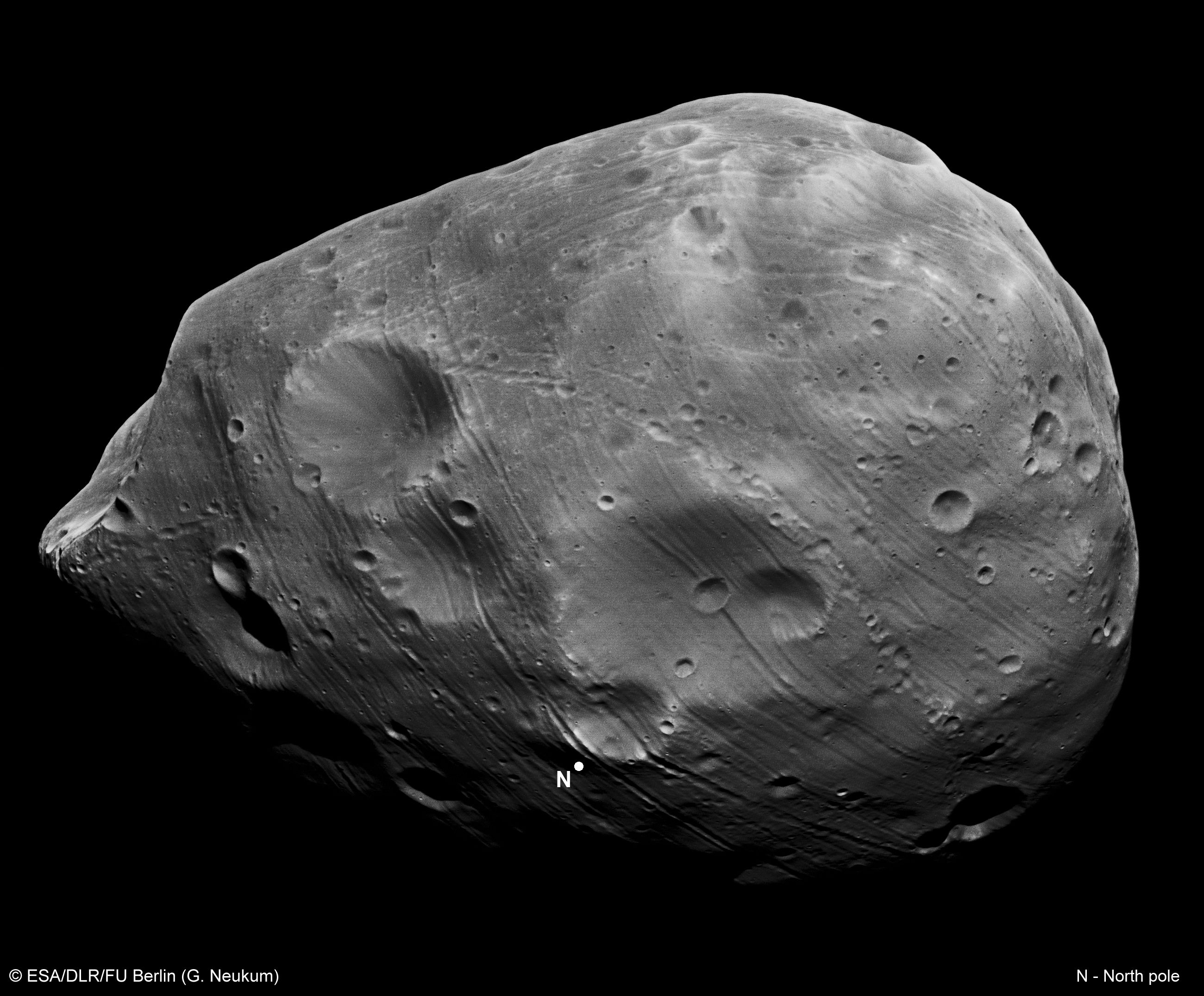 APOD: 2010 March 17 - Phobos from Mars Express
