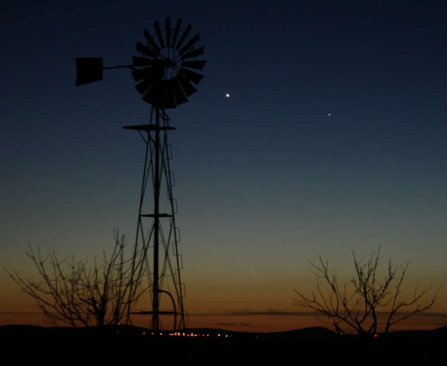 Venus y Mercurio en el oeste