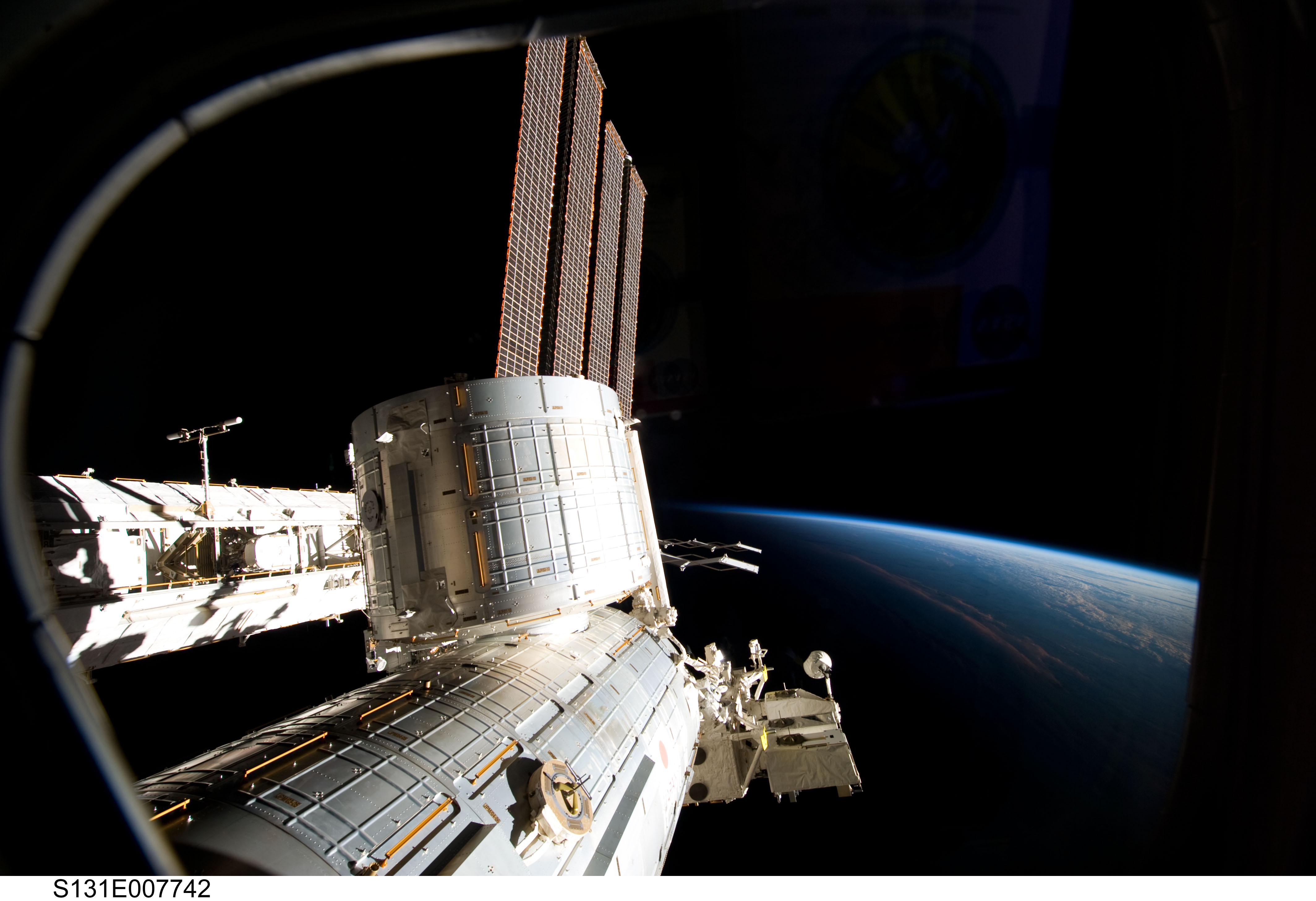 space station passes iss larrygerstman