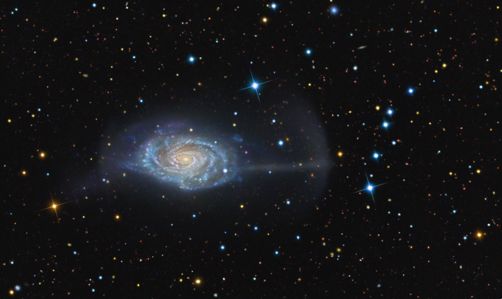 NGC 4651: la Galaxia Paraguas