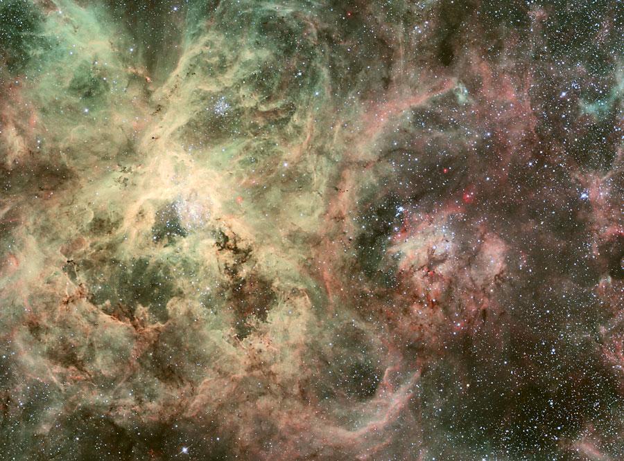 Los tentáculos de la Nebulosa de la Tarántula