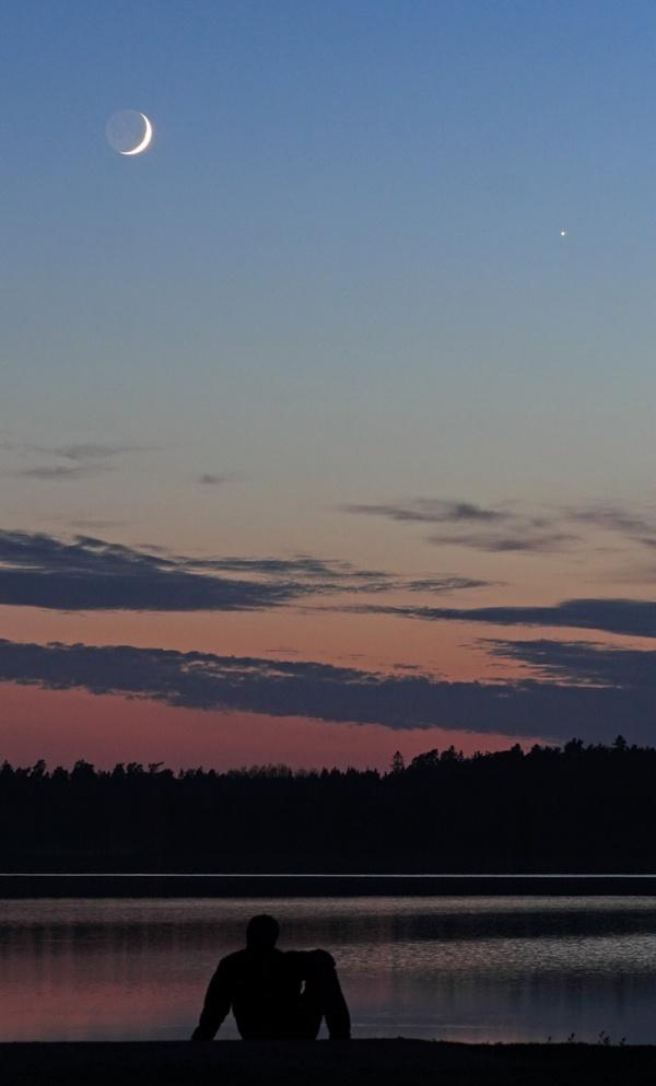 Calma, Luna creciente y Venus