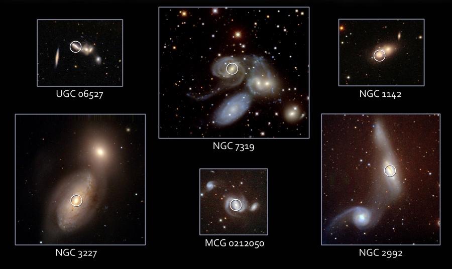 Agujeros Negros en Galaxias en unión