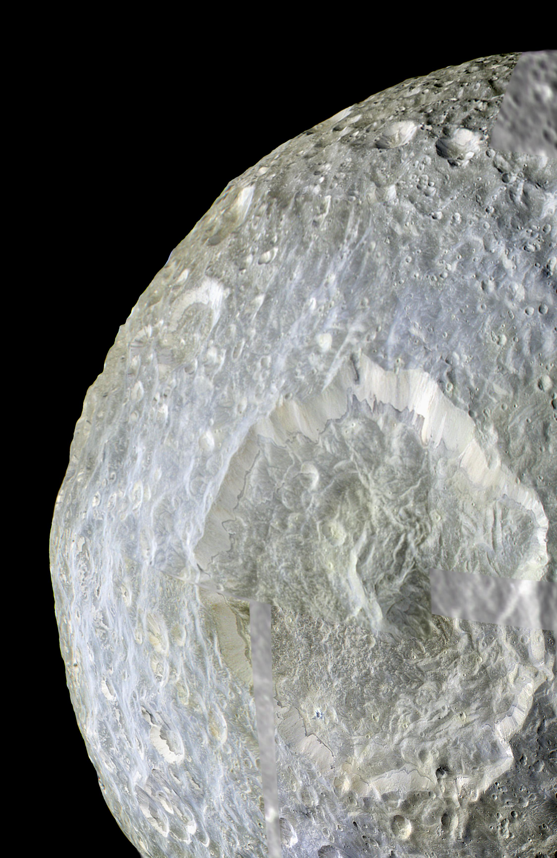 APOD: 2010 May 11 - Herschel Crater on Mimas of Saturn