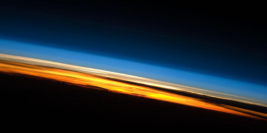 Puesta de Sol desde la Estación Espacial Internacional