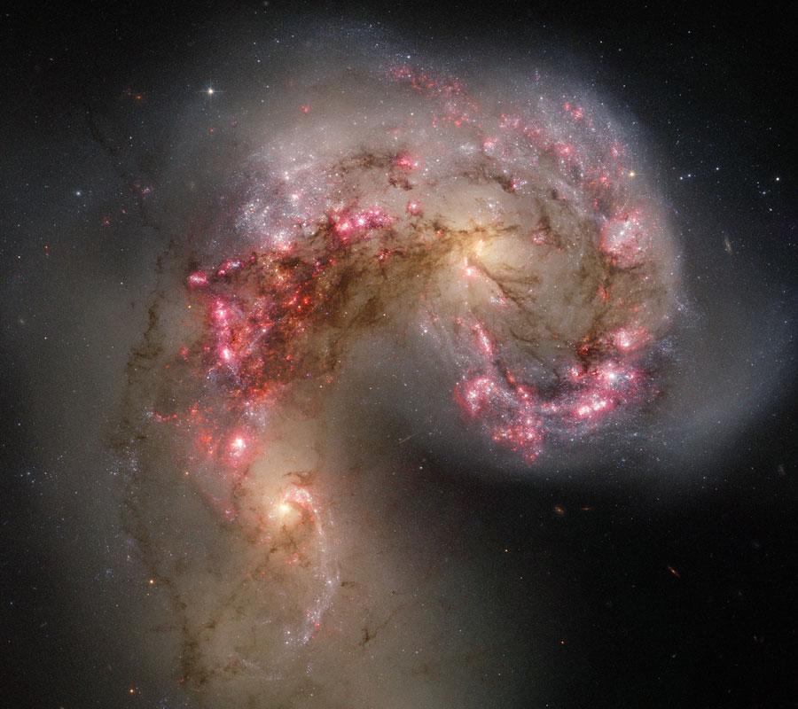 Las galaxias Antena en colisión