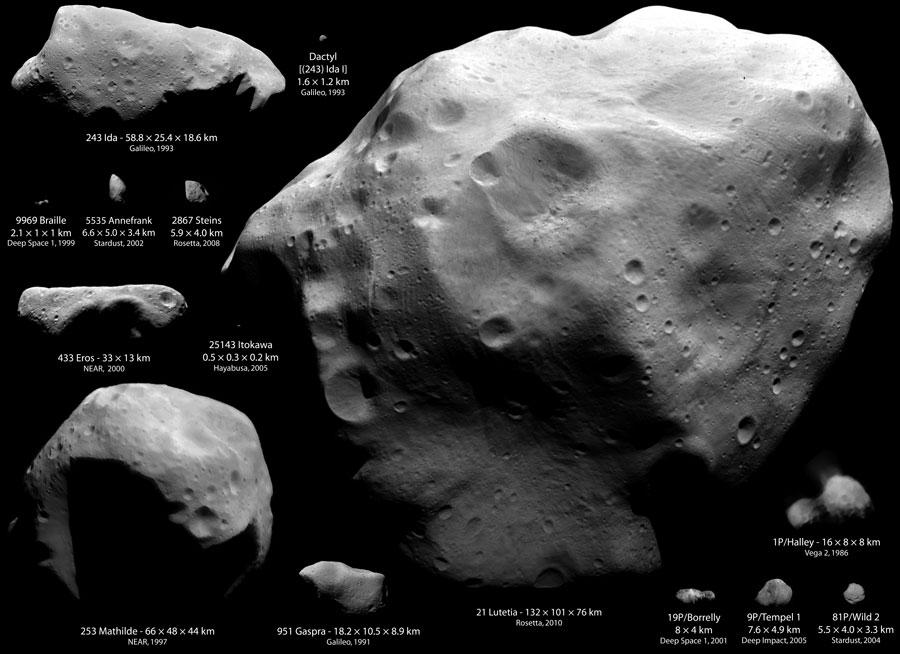 Lutetia: el asteroide más grande visitado