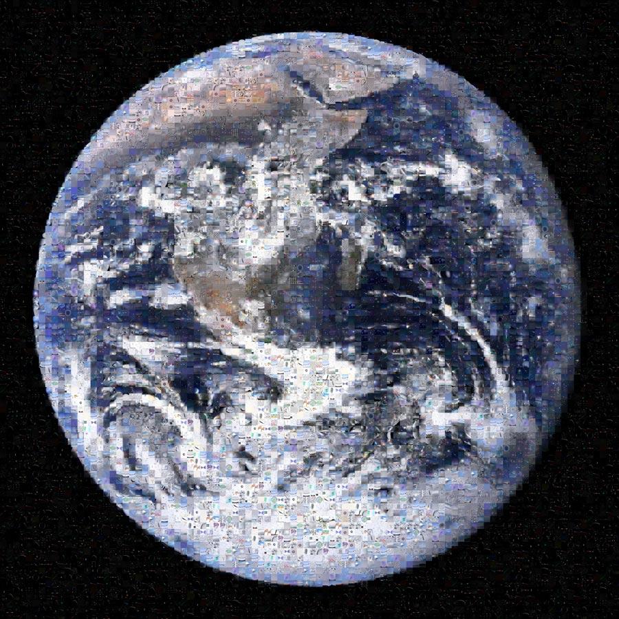 Mosaico: bienvenido al planeta Tierra