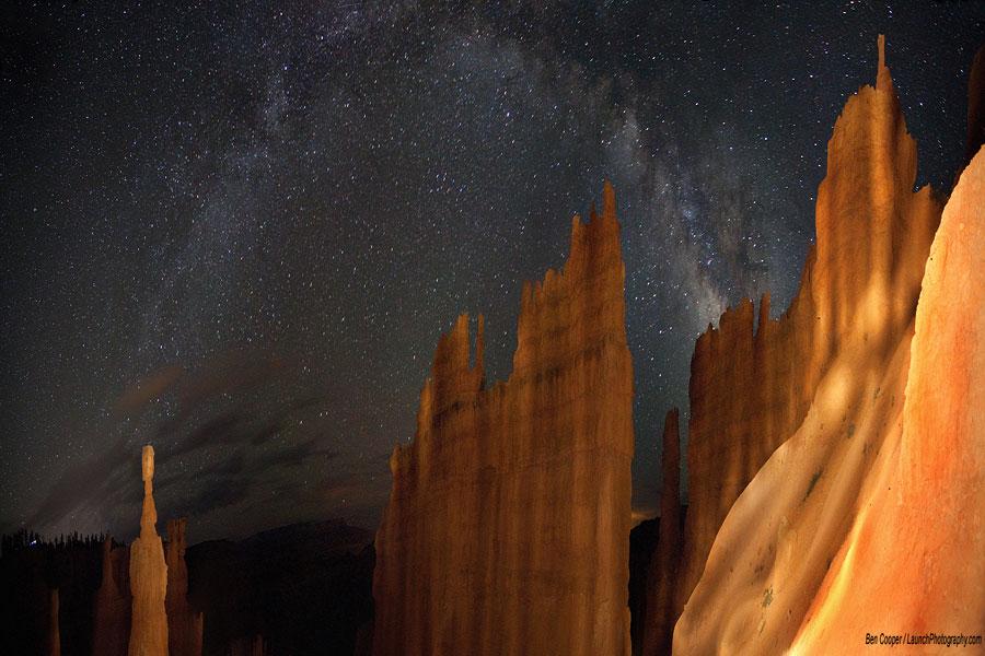 La Vía Láctea sobre Bryce Canyon